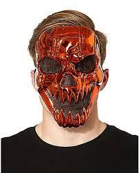 Spirit Halloween Animatronic Mask by Metallic Pumpkin Mask Spirithalloween Com