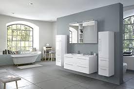 sam badmöbel set villa 4 tlg hochglanz weiß softclose badezimmermöbel doppelwaschplatz 120 cm mineralgussbecken spiegelschrank zwei hochschränke