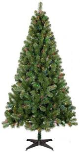 6ft Pre Lit Full Artificial Christmas Tree Alberta Spruce Multicolored Lights