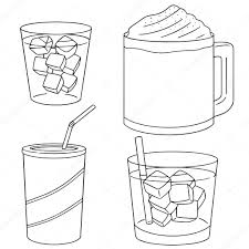 Vector Set Of Iced Coffee Stock