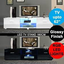 Modern High Gloss Matt TV Cabinet Unit 160cm Stand RGB LED Home BA0049