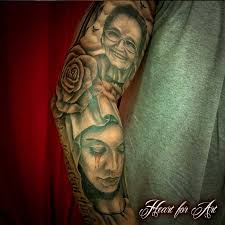 Religious Portrait Tattoo Sleeve