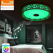 blau einfache moderne led deckenleuchte schlafzimmer le zimmer warm bluetooth app musik licht handy steuer