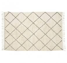 teppich weiß grau baumwolle hübsch interior