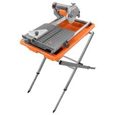 7 in job site tile saw with laser ridgid professional tools