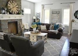 Gray And Teal On Wonderful Brown Living Room Ideas Go