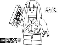 LEGO Nexo Knights Coloring Pages Ava Prentis