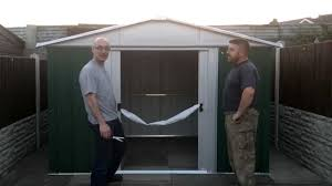 Argos 6 X 10 Shed by Yardmaster 10ft X 8ft Shed Opening Youtube