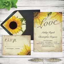 Rustic Sunflower Wedding Invitation Set Printable By VGInvites