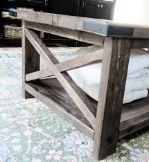 Attractive Rustic Coffee Table Plans And Ana White X Diy Projects