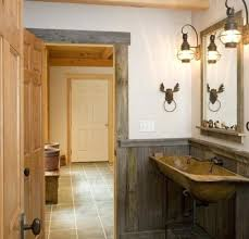 Rustic Lighting Ideas Wooden Bathroom Decor With Bar