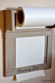 Kitchen Paper Roll Grocery List Diy Home Decor On A Budget