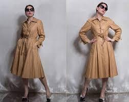vintage trench coat etsy
