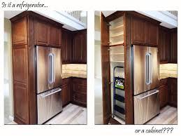 Thermofoil Cabinet Doors Edmonton by Custom Kitchen Cabinet U2013 Refrigerator Refrigerator Cabinet