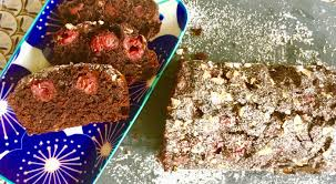 schokoladiger geht kaum brownie kuchen mit kirschen und