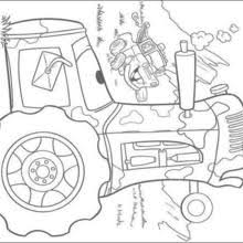 Finn McMissile Mater Truck And A Tractor Coloring Page