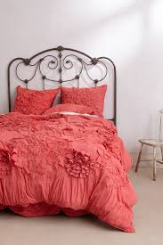 ANTHROPOLOGIE Georgina QUEEN Duvet Cover Pink Rose Bedding FREE