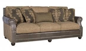 Julianna Cigar Brown Leather Fabric Sofa KH3000 LF