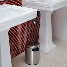 Bathroom Wastebasket With Lid by Glass Blocks Waste Basket Hayneedle