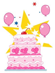 Free Birthday Cake Clip Art Image Three Tier Pink Birthday Cake for That Special Girl