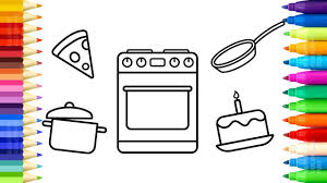 Baby Kitchen Toys Coloring Pages