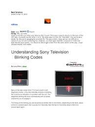 Sony Wega Lamp Problems by Sony Wega Lamp Light Blinking Instalamp Us