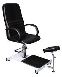 pedicure chair black hydraulic footrest salonquip