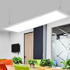 schlank led flach pendelleuchte büro modern minimalismus