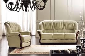 canape cuir rustique salon 3 pieces en cuir canape fixe et 2 fauteuils a petit prix