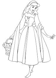 Sleeping Beauty Princess Aurora Wander Around In Coloring Page