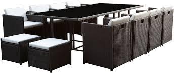 tables de jardin en resine salon de jardin résine encastrable 12 places