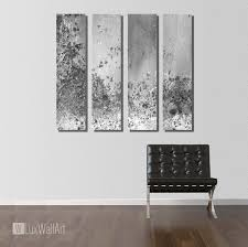 Silver Large Vertical Thin Panel Metal Abstract Wall Art
