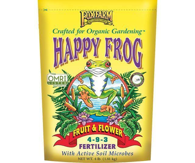 Hydrofarm FoxFarm 5 8 4 Happy Frog Fruit and Flower Fertilizer - 4lbs