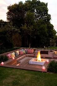 Patio And Deck Combo Ideas by Best 25 Sunken Patio Ideas On Pinterest Fire Pit On A Slope