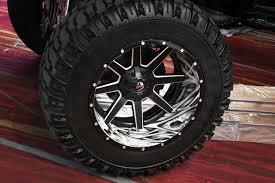 100 Truck Rims 4x4 FUEL D262 MAVERICK 2PC CAST CENTER Black With Milled