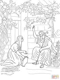 Elijah Called Down Fire From Heaven Coloring Page Free Printable