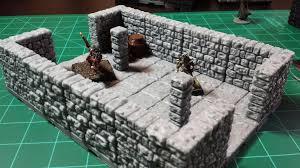 3d Dungeon Tiles Kickstarter by Dragonlock 3d Printable Dungeon Terrain Core Set Review Youtube