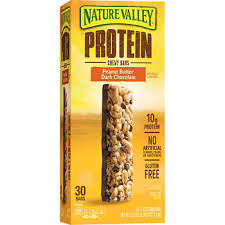 Nature Valley Peanut Butter Dark Chocolate Protein Chewy Bars 142 Oz 30 Count