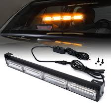 100 Strobe Light For Trucks Amber 18 Traffic Advisor COB LED Bar Kit Xprite