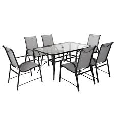 Cosco Outdoor Living Paloma 7-Piece Dining Set, Gray Paloma 180cm Oval Glass Ding Table With Helsinki Fabric Chairs Tricia Black Chair 135cm Round Calgary Reclaimed Wood Rectangular Set Rolled Back Cream Cotton By Inspire Q Artisan Cosco Outdoor Living 88646glge Patio Tempered Top Gray Margo 15m Java Root 6 Crate And Barrel For Inspiring Rustic Style Signal Hills Salvaged Upholstered Of 4 Details About Sco Steel Light Sling Dark Strless Rosemary Low