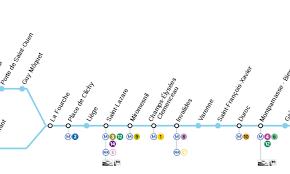metro denis porte de hôtels sur la ligne 13 du métro à