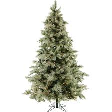 9 Ft Pre Lit Christmas Trees by Fraser Hill Farm 9 Ft Pre Lit Glistening Pine Artificial