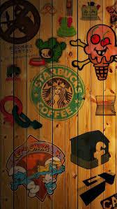 Starbucks Coffee Collage IPhone 5 Wallpaper 640x1136