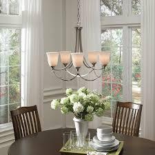 Tahari Home Lamps Crystal by Shop Allen Roth Winnsboro 5 Light Brushed Nickel Standard