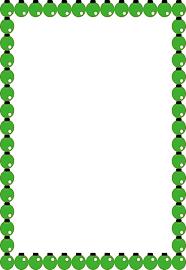 Green Ornament Christmas Border