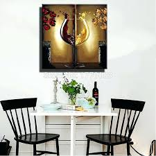 Dining Room Paintings Appealing Canvas Art With Red Wall Dinning