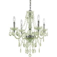 Home Depot Ceiling Chandeliers by Af Lighting Judy 4 Light Soft Gold Mini Chandelier With Glass Bead