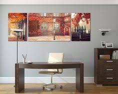 Princeton Autumn Landscape Photographyrustic Decor Personalized Home Large Canvas ArtLarge