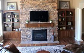Custom Made Built In Bookcases And Fireplace Mantle