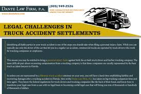 100 Best Trucking Companies To Work For Legal Challenges In Truck Accident Settlements